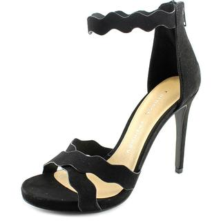 Chinese Laundry Women's Blossom Black Faux-suede Sandals