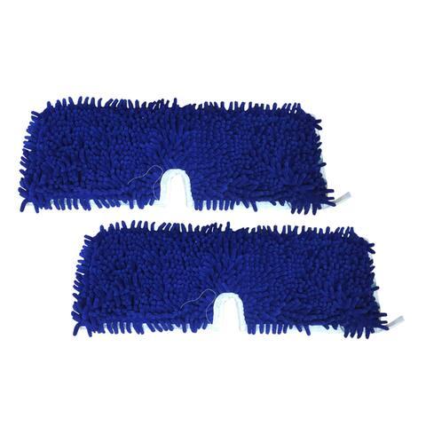 2pk Replacement Microfiber Mop Pads, Fits O-Cedar Dual Action Flip Mops, Washable & Reusable