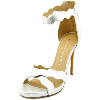 Chinese Laundry Women's 'Blossom' Silver Faux-leather Sandals