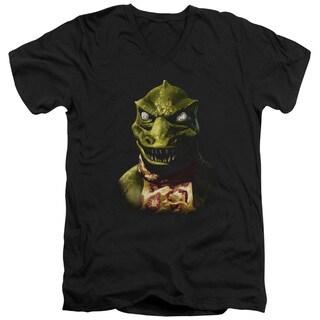 Star Trek/Gorn Bust Short Sleeve Adult T-Shirt V-Neck in Black
