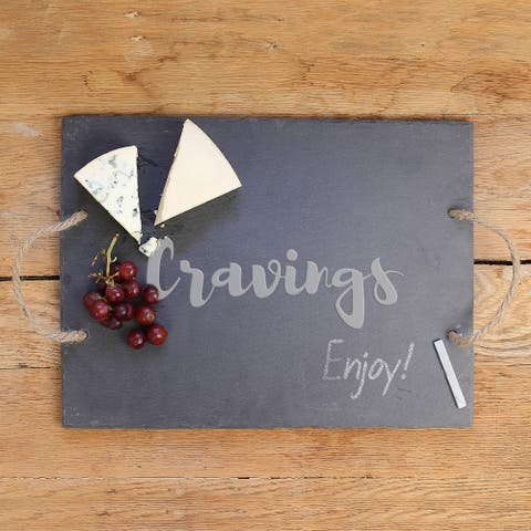 Cravings Black, Grey and Tan Slate Serving Board