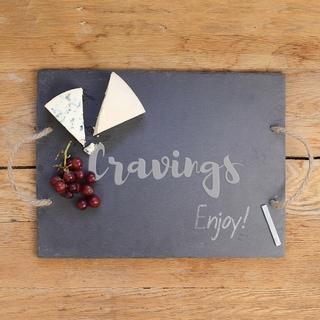 Cravings Black, Grey and Tan Slate Serving Board