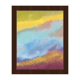 Citrine Splatter Mound Framed Canvas Wall Art
