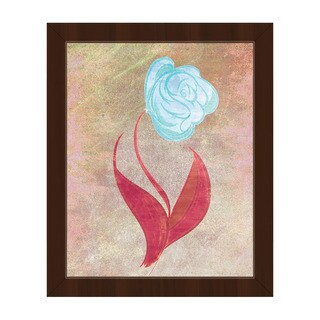 Celest-colored Rose Handcrafted Framed Canvas Wall Art