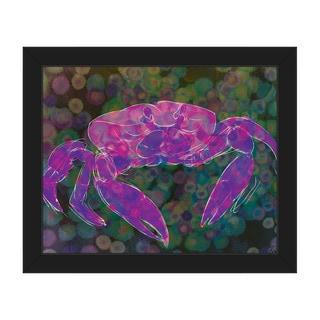 'Magenta Land Crab' Canvas Framed Wall Art