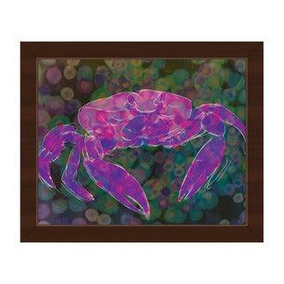 'Magenta Land Crab' Framed Canvas Wall Art