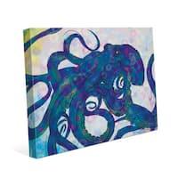 Indigo Octopus Wall Art on Canvas