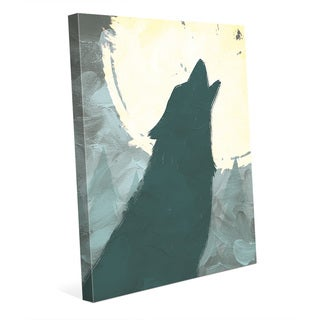 Howling to the Moon Wall Art on Canvas