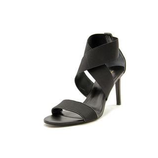 Marc Fisher Women's 'Brooke' Black Fabric Sandals