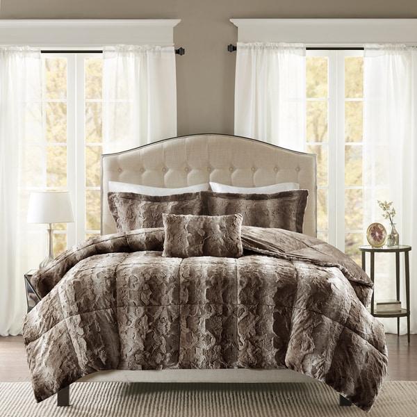 Madison Park Marselle Faux Fur Comforter Set Free