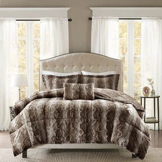 Madison Park Marselle Faux Fur Comforter Set  Option  King. Size King Comforter Sets For Less   Overstock com