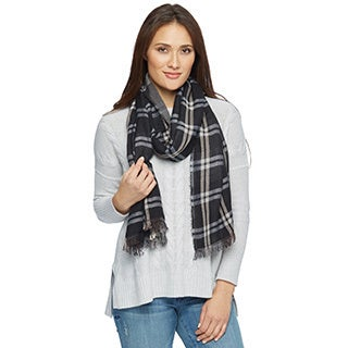 Unisex Reversible Plaid Scarf