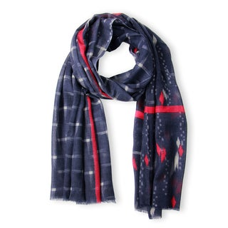 Handmade Saachi Women's Starlight Wool Silk Blend Scarf (India)