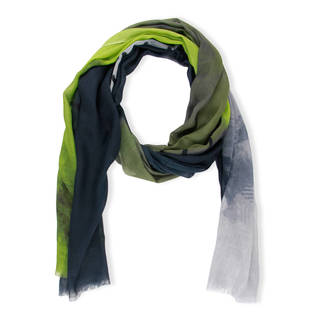 Handmade Saachi Women's Color-block Stitch Modal Scarf (India)