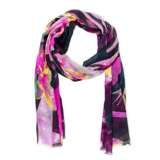 Saachi Women's Tropical Forest Modal Scarf (India)