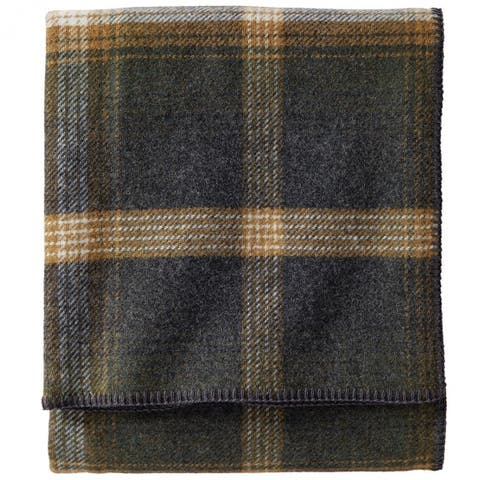 Pendleton Eco-wise Oxford Wool Plaid Blanket