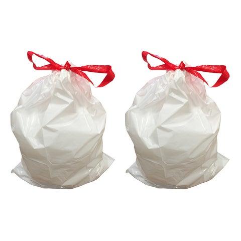 20pk Replacement Garbage Bags, Fits Simplehuman Trash Bins, 45L / 12-Gallon, Style-M