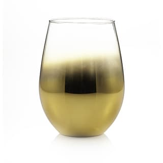 Fitz Floyd Gold 20-ounce Stemless Glasses (Set of 4)
