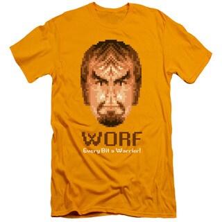 Star Trek/Bit Warrior Short Sleeve Adult T-Shirt 30/1 in Gold