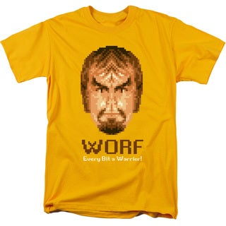 Star Trek/Bit Warrior Short Sleeve Adult T-Shirt 18/1 in Gold