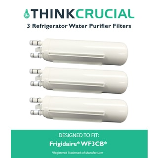 Think Crucial Refrigerator Water Purifier Filters for Frigidaire WF3CB (Pack of 3)