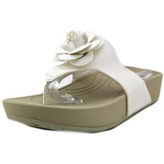 Baretraps Women's Greda White Faux-leather Sandals