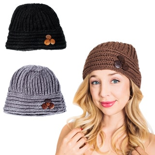 Handmade 'Cute as a Button' Winter Beanie (Nepal)