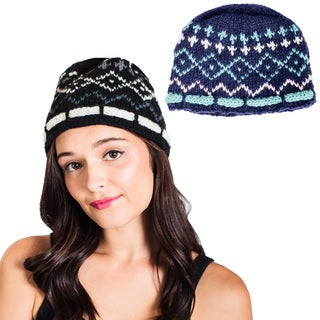 Handmade Vintage Knit Cold Weather Fleeced Winter Beanie (Nepal) (2 options available)