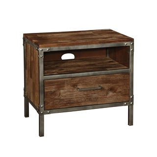 Coaster Company Brown Wood Pewter-trimmed Nightstand