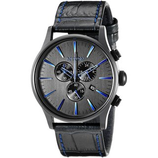 Nixon Men's A405-2153 Sentry Chrono Black Watch