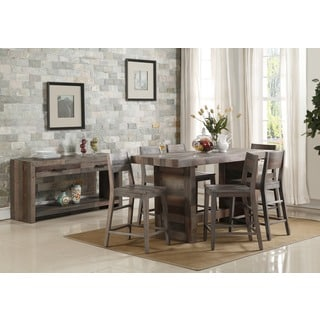 Kosas Home Oscar Distressed Charcoal 77-inch Reclaimed Wood Pallet Table