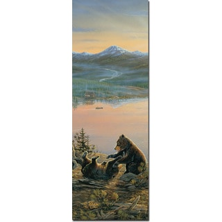 WGI 'Serenity At Twilight No. 1' Wall Art Printed on Wood