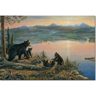 WGI Gallery 'Serenity At Twilight' Wood-printed Wall Art