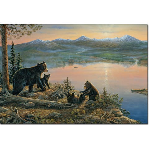 WGI Gallery 'Serenity at Twilight' Wood-printed Wall Art - Multi