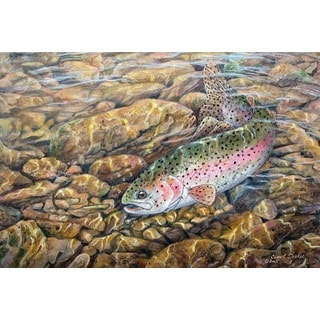 WGI Gallery 'Rainbow Trout' Wall Art Printed on Wood