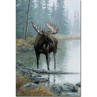 WGI Gallery 'Quiet Water Moose' Wall Art Printed on Wood