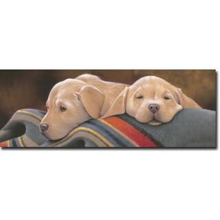 WGI 'Pendleton Pups Yellow' Wooden Wall Art