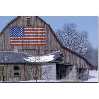 WGI 'Old Barn Old Glory' Wood-printed Wall Art