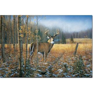 WGI Gallery 'November Whitetail Deer' Wall Art Printed on Birchwood - Multi
