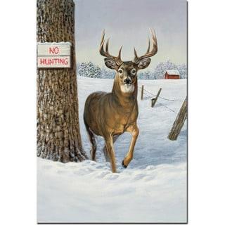 WGI Gallery 'No Hunting' Wood Sealcoat-finished Wall Art