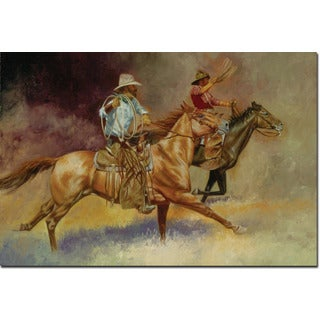 WGI Gallery 'Moving Out Cowboy' Wood-printed Wall Art
