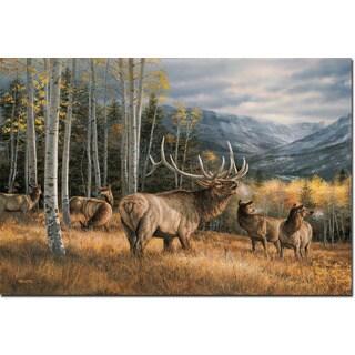 WGI Gallery 'Meadow Music Elk' Wood-printed Wall Art