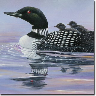 WGI Gallery 'Misty Loons' Wooden Wall Art