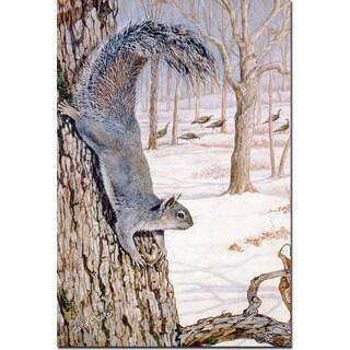 WGI Gallery Morning Feed (Squirrels) Wall Art Printed on Wood