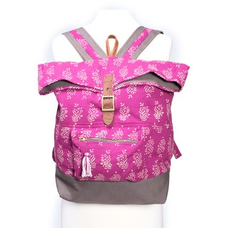 Delilah Batik Backpack - Fuchsia (India)