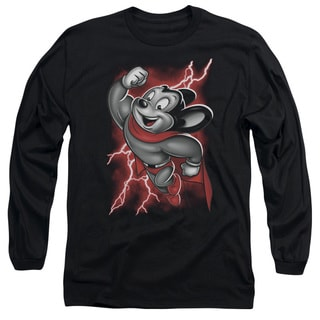 Mighty Mouse/Mighty Storm Long Sleeve Adult T-Shirt 18/1 in Black
