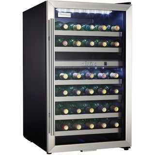 Danby – 38 Bottle Stainless Steel Free-Standing Wine Cooler