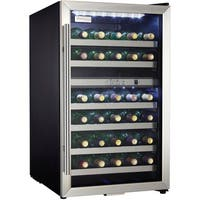 Danby - 38 Bottle Stainless Steel Free-Standing Wine Cooler