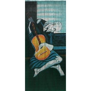 Picasso's The Old Guitarist Bamboo Curtain (Vietnam)