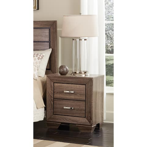 Strick & Bolton Magnus Taupe Nightstand